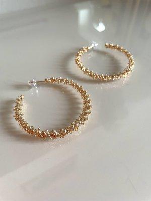 Goldene Kreolen Ohrstecker Ohrringe
