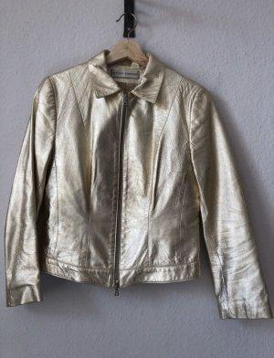 Goldene Lederjacke von Steven Ashford/ Vera Pelle in Größe 38
