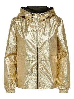 Goldene Metallic Wind Jacke