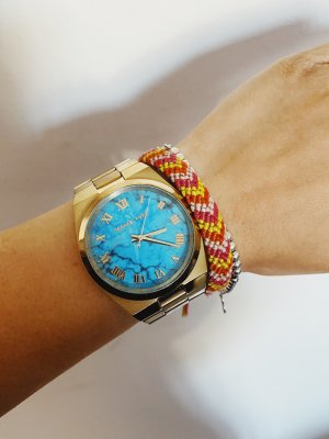 Goldene Michael Kors Uhr