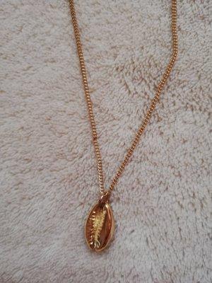 H&M Naszyjnik z muszelek złoto