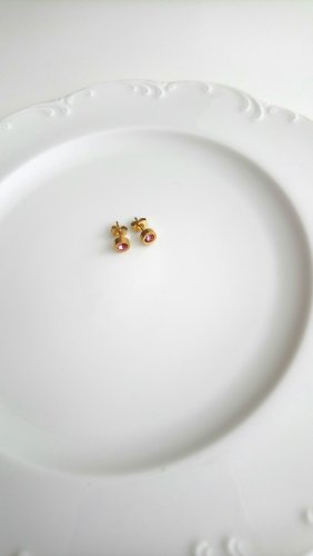 Ear stud gold-colored-pink