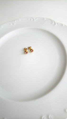 Clou d'oreille doré-rose