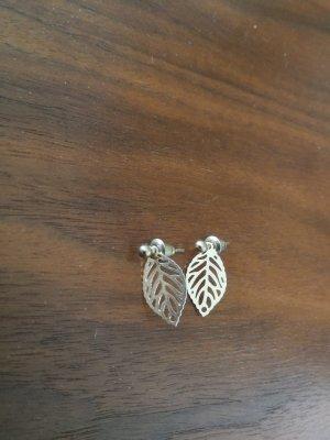 Goldene Ohrringe Blätter Etsy