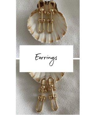 Boucles d'oreille en or doré
