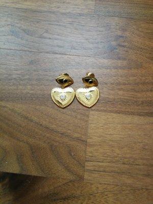 Goldene Ohrringe Herz MeMe london