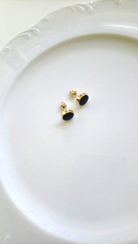 Zarcillo negro-color oro