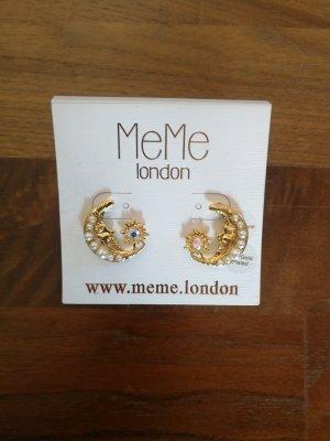 Goldene Ohrringe Mond MeMe London