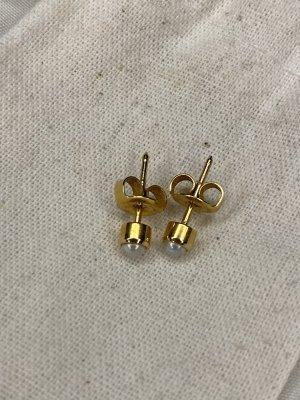 Boucles d'oreille en or orange doré-blanc