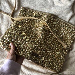 Goldene Pailletten Clutch, Umhängetasche