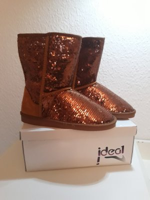Ideal Botas de nieve color bronce-color oro