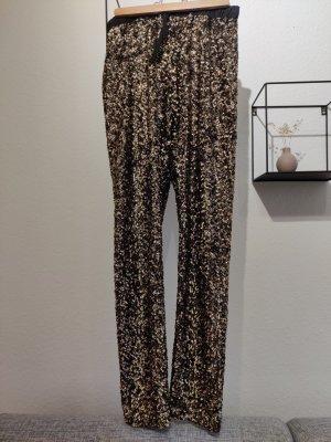 Moss Copenhagen Pantalón con estribo negro-color oro