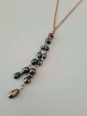 goldene Perlenkette vintage