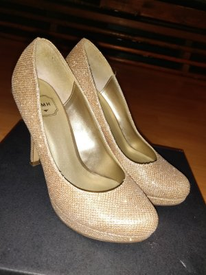 SMH Wedge Pumps gold-colored