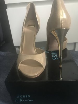Guess by Marciano Peep Toe Pumps nude-gold-colored