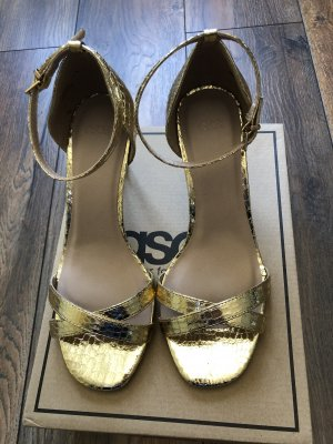 Asos Strapped Sandals gold-colored