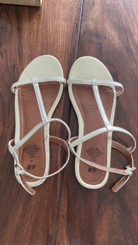 H&M Beach Sandals gold-colored