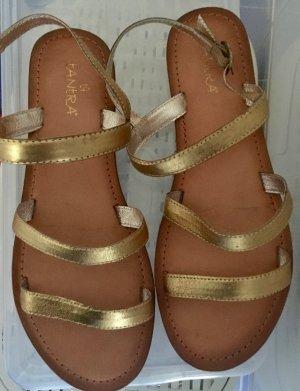 Goldene Sandalen Gr. 40