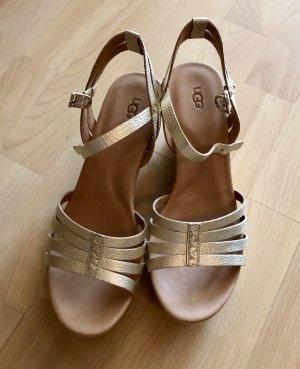 UGG Comfort Sandals gold-colored