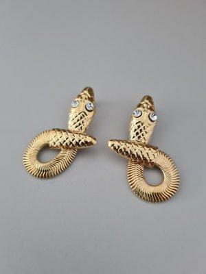 Vintage Zdobione kolczyki złoto