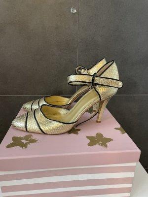 Zara Slingback pumps goud-zwart