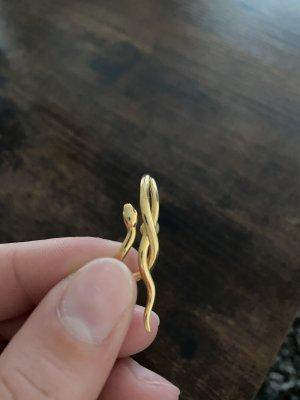 Goldene Snake Ohrringe