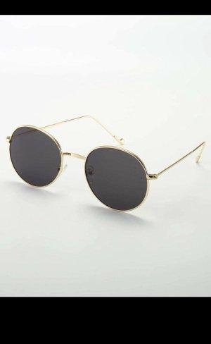 SheIn Oval Sunglasses gold-colored-black