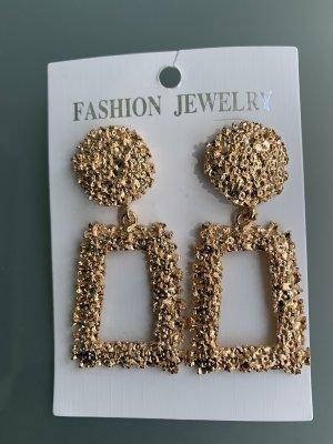 fashion jewelery Boucle d'oreille incrustée de pierres doré