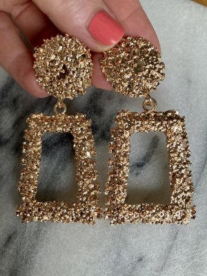 Zara Accesoires Statement Earrings gold-colored
