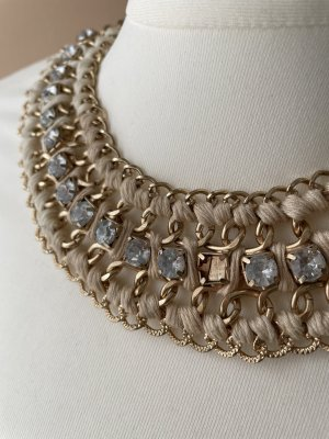 no name Statement Necklace gold-colored-cream