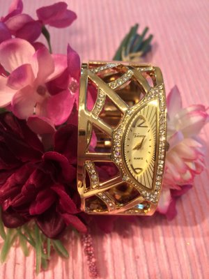 Fermoir de montre doré bronze