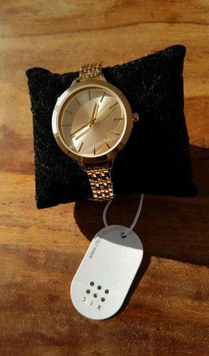 Goldene Uhr Damen/Six/ neu/ mit Etikett