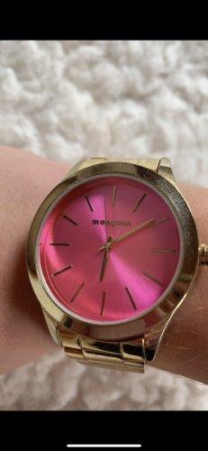 Manguun Orologio con cinturino di metallo rosa-oro