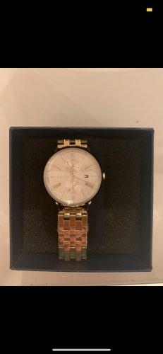 Goldene Uhr Tommy Hilfiger