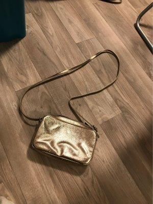 Goldene Umhänge Tasche