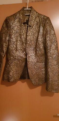 Blazer de esmoquin negro-color oro Poliéster