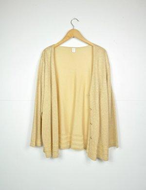 Goldener Cardigan mit Knopfleiste und Ausstanzungen