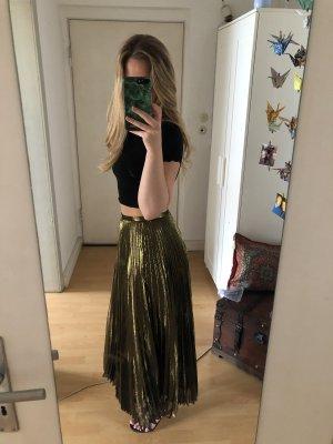 Ralph Lauren Plisowana spódnica ochra-złoto
