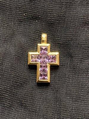 Goldener Kreuz Anhänger