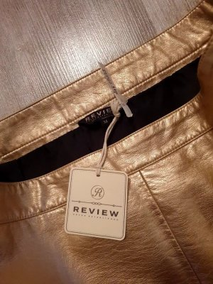 Review Faux Leather Skirt gold-colored