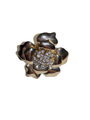 Goldener Statement Ring im Versace Stil mit Strass