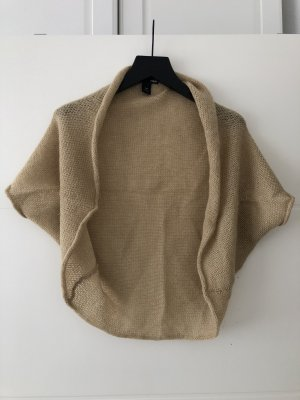 H&M Knitted Bolero gold-colored