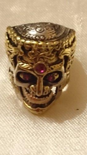 Goldener Totenkopf   Skull  Ring  Gr.22 -Unisex
