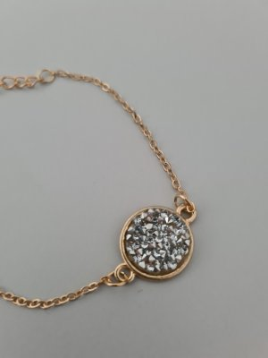 Bransoletka srebrny-złoto