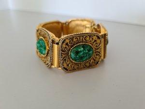 Vintage Bracciale oro-verde