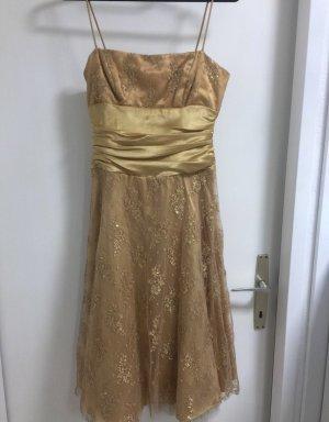 1 NY tee Vestido de baile color oro