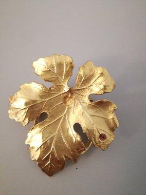goldenes Blatt Tuchclip vintage