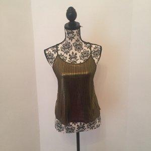 Monki Camisole zwart-goud Gemengd weefsel