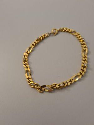 goldenes Gliederarmband mit Steinen vintage