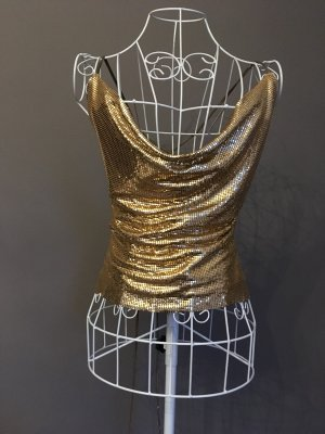 Backless Top gold-colored metal